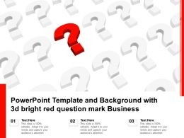 Powerpoint Template And Background With 3d Bright Red Question Mark Business