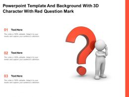 Powerpoint Template And Background With 3d Character With Red Question Mark