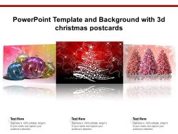 Powerpoint Template And Background With 3d Christmas Postcards