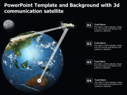 Powerpoint Template And Background With 3d Communication Satellite