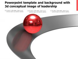 Powerpoint Template And Background With 3d Conceptual Image Of Leadership