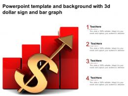 Powerpoint Template And Background With 3d Dollar Sign And Bar Graph