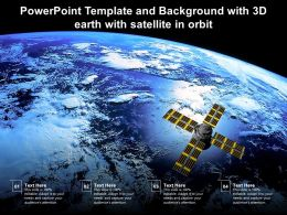 Powerpoint Template And Background With 3d Earth With Satellite In Orbit