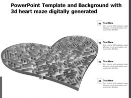 Powerpoint Template And Background With 3d Heart Maze Digitally Generated