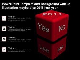 Powerpoint Template And Background With 3d Illustration Maybe Dice 2011 New Year