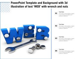 Powerpoint Template And Background With 3d Illustration Of Text Web With Wrench And Nuts
