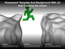 Powerpoint Template And Background With 3d Man Crossing The Chasm