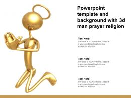 Powerpoint Template And Background With 3d Man Prayer Religion