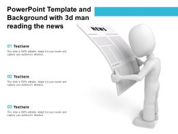 Powerpoint Template And Background With 3d Man Reading The News