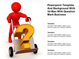 Powerpoint Template And Background With 3d Man With Question Mark Business