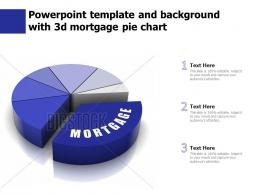 Powerpoint Template And Background With 3d Mortgage Pie Chart