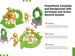 Powerpoint Template And Background With 3d People And Green Recycle Symbol