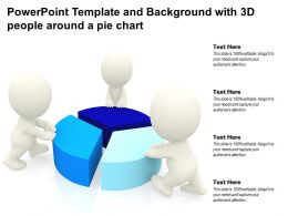 Powerpoint Template And Background With 3d People Around A Pie Chart