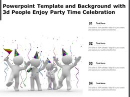 Powerpoint Template And Background With 3d People Enjoy Party Time Celebration