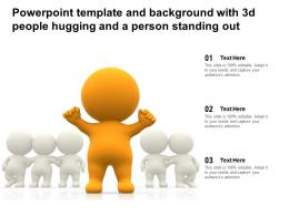 Powerpoint Template And Background With 3d People Hugging And A Person Standing Out