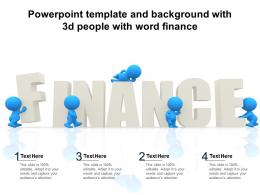 Powerpoint Template And Background With 3d People With Word Finance