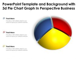 Powerpoint Template And Background With 3d Pie Chart Graph In Perspective Business