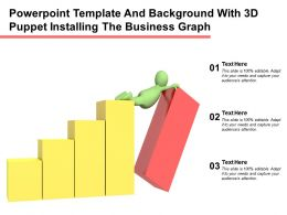Powerpoint Template And Background With 3d Puppet Installing The Business Graph