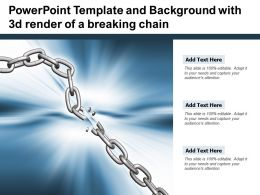 Powerpoint Template And Background With 3d Render Of A Breaking Chain