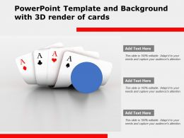 Powerpoint Template And Background With 3d Render Of Cards