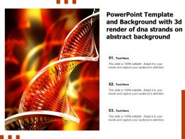Powerpoint Template And Background With 3d Render Of DNA Strands On Abstract Background