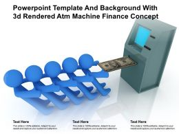 Powerpoint Template And Background With 3d Rendered Atm Machine Finance Concept