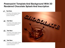 Powerpoint Template And Background With 3d Rendered Chocolate Splash And Inscription