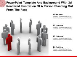 Powerpoint Template And Background With 3d Rendered Illustration Of A Person Standing Out From The Rest