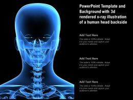 Powerpoint Template And Background With 3d Rendered X Ray Illustration Of A Human Head Backside