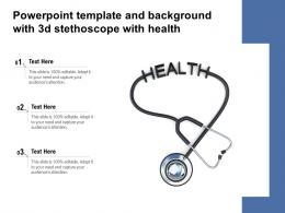Powerpoint Template And Background With 3d Stethoscope With Health