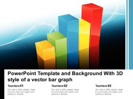 Powerpoint Template And Background With 3d Style Of A Vector Bar Graph
