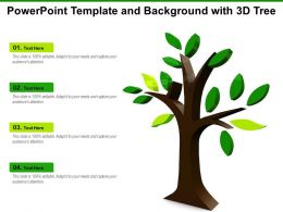 Powerpoint Template And Background With 3d Tree