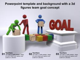 Powerpoint Template And Background With A 3d Figures Team Goal Concept