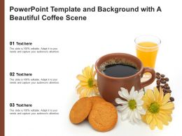 Powerpoint Template And Background With A Beautiful Coffee Scene