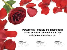 Powerpoint Template And Background With A Beautiful Red Rose Border For Wedding Or Valentines Day