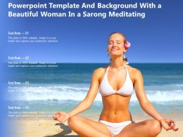 Powerpoint Template And Background With A Beautiful Woman In A Sarong Meditating