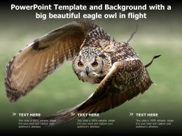 Powerpoint Template And Background With A Big Beautiful Eagle Owl In Flight