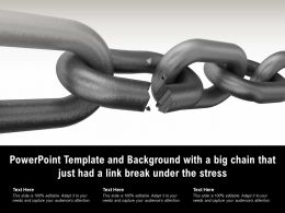 Powerpoint Template And Background With A Big Chain That Just Had A Link Break Under The Stress
