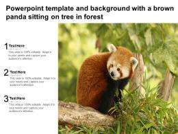 Powerpoint Template And Background With A Brown Panda Sitting On Tree In Forest