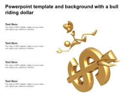 Powerpoint Template And Background With A Bull Riding Dollar