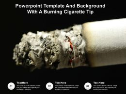 Powerpoint Template And Background With A Burning Cigarette Tip