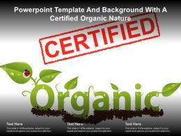 Powerpoint Template And Background With A Certified Organic Nature