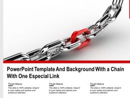 Powerpoint Template And Background With A Chain With One Especial Link