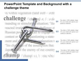 Powerpoint Template And Background With A Challenge Theme