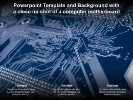 Powerpoint Template And Background With A Close Up Shot Of A Computer Motherboard