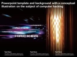 Powerpoint Template And Background With A Conceptual Illustration On The Subject Of Computer Hacking