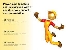 Powerpoint Template And Background With A Construction Concept And Presentation