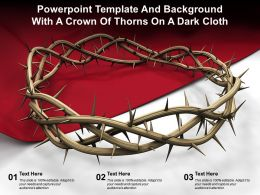 Powerpoint Template And Background With A Crown Of Thorns On A Dark Cloth