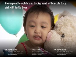 Powerpoint Template And Background With A Cute Baby Girl With Teddy Bear