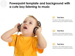 Powerpoint Template And Background With A Cute Boy Listening To Music